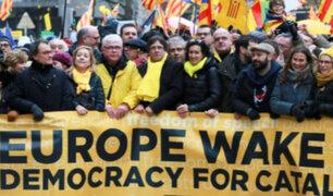 Bélgica: miles de independentistas marcharon en apoyo a Carles Puigdemont