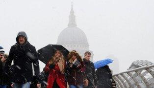 Continúan fuertes nevadas en Europa