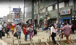 La Victoria: caos por obras inconclusas en Gamarra