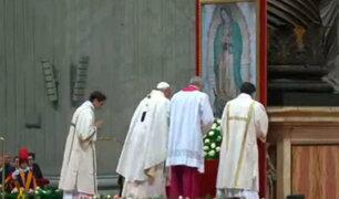 Papa Francisco también celebra a la Virgen de Guadalupe en el Vaticano