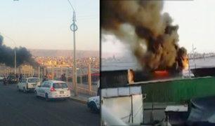 Tacna: incendio en mercado mayorista Grau causó alarma en comerciantes