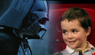 Observe la reacción de un grupo de niños al conocer a Darth Vader