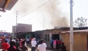 Piura: se registró incendio en taller clandestino de pirotécnicos
