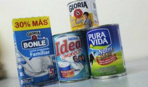 Gloria y Nestlé cambian rotulado de lácteos tras multa de Indecopi