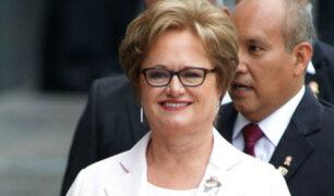 Primera dama brinda respaldo al presidente Pedro Pablo Kuczynski