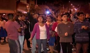 SJL: vecinos bloquean ingreso al túnel Santa Rosa tras accidente de tránsito