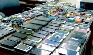 Incautan celulares robados en megaoperativo