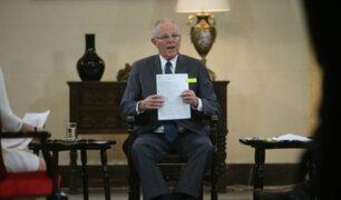 El Presidente Kuczynski responde a panel de periodistas en Palacio de Gobierno