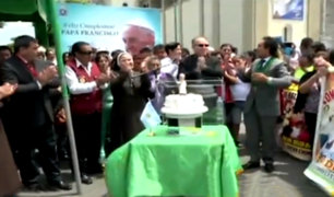 Chimbote: así celebraron los fieles el cumpleaños del papa Francisco