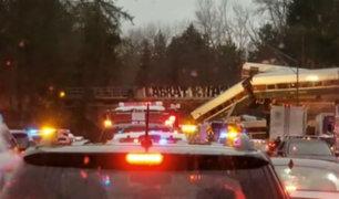 EEUU: tren se descarrila en Whashington y deja seis muertos