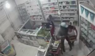 San Martín: delincuentes asaltan botica y se llevan más de 9 mil soles