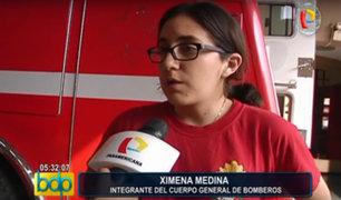 Bombera sufre robo de equipo de emergencia valorizado en 10 mil soles