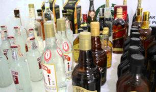 Pueblo Libre: PNP incauta presuntos  licores bambas