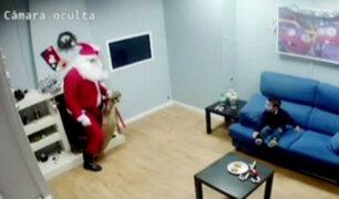 Sorpresa navideña: niños se encuentran con Papá Noel en divertida cámara oculta