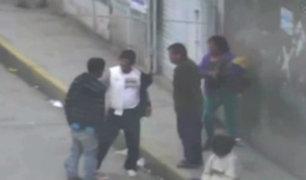 Huancayo: cámaras registran violentas peleas callejeras