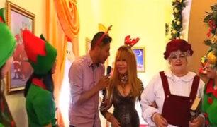 La Noche es Mía sorprende a la Tigresa del Oriente con visita a Casa de Papá Noel