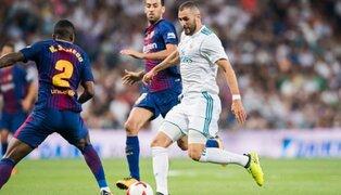 Barcelona ganó 3 - 0 al Real Madrid en el clásico de la  Liga Española