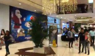 Incidente provocó pánico en centro comercial de San Juan de Miraflores