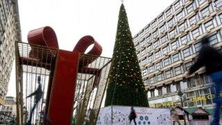 Indignación por árbol de Navidad de 98 mil dólares instalado en centro de la ciudad
