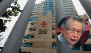 Alberto Fujimori: expresidente permanece en clínica de Pueblo Libre
