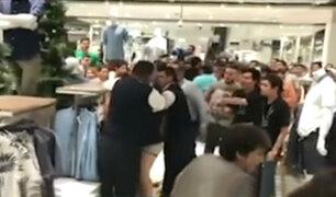 SJM: PNP descarta balacera en concurrido centro comercial