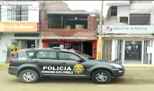 Barranca: delincuentes asaltaron Banco de la Nación