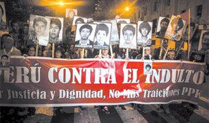 Niña fue golpeada por manifestantes durante marcha contra indulto a Fujimori