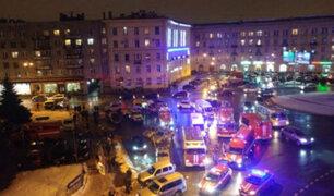 Rusia: Explosión en supermercado deja al menos 10 heridos en San Petersburgo