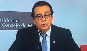 Ministro de Justicia se pronunció en conferencia sobre indulto a Alberto Fujimori