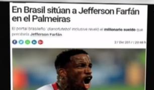 Jefferson Farfán: aseguran que peruano jugará en Palmeiras