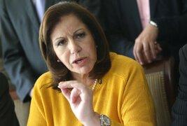 Lourdes Flores pide poner por delante el interés del Perú