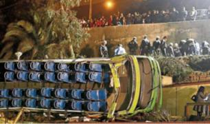 Sucedió en el 2017:  bus se desbarrancó en cerro San Cristóbal