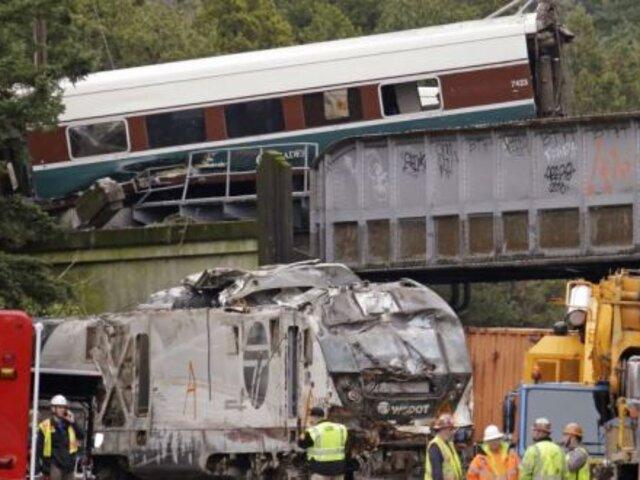 Al menos 6 muertos y 13 heridos deja descarrilamiento de tren en Washington