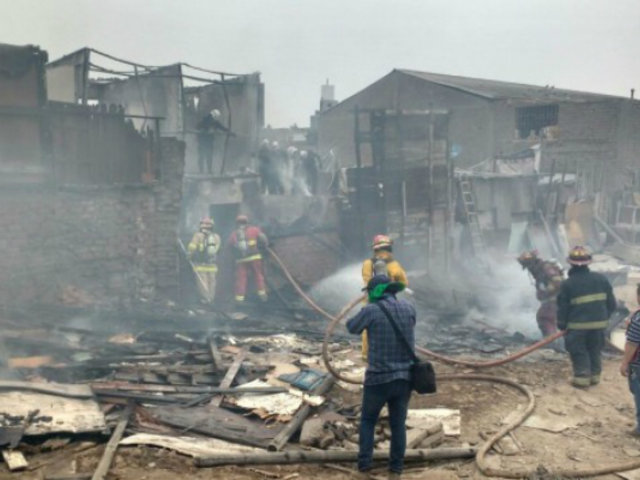 Incendio en Barrios Altos: murió padre que intentó salvar a sus hijos