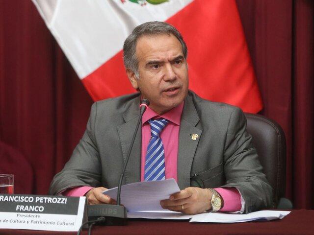 Petrozzi a favor de la inversión privada para salvaguardar el patrimonio cultural