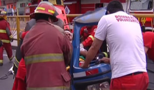 San Martín de Porres: Triple choque deja dos heridos