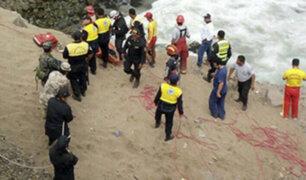 Pasamayo: marea complicó labores de rescate de los cuerpos