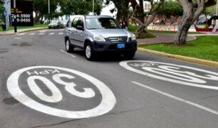 San Isidro: iniciarán fiscalización electrónica para controlar exceso de velocidad