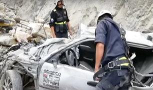 La Libertad: dos muertos deja despiste de auto en Huamachuco
