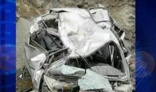 La Libertad: dos muertos y un herido deja accidente de tránsito en Huamachuco