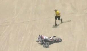 Dakar 2018: motociclista pierde el conocimiento tras accidente