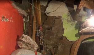 Cercado: colapso de antigua quinta afecta a 10 familias