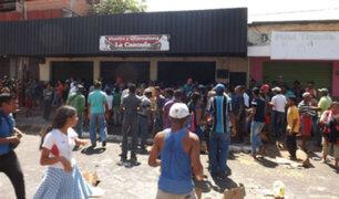 Venezuela: al menos dos muertos dejan saqueos y caos por escasez de alimentos