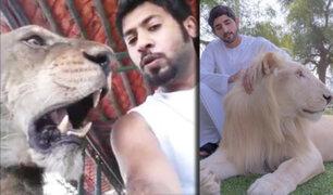 Conozca a las excéntricas mascotas del principie heredero de Dubái