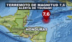 Honduras: se registró fuerte sismo de 7.6 grados