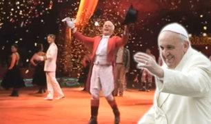 """Papa Francisco invitó al circo a más de 2000 """"pobres, prófugos y encarcelados"""" en Roma"""