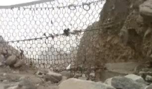 Chosica: roban accesorios de mallas geodinámicas colocadas en quebradas