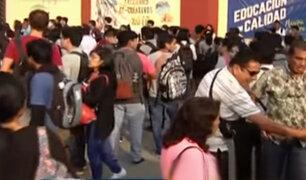 Cercado de Lima: estudiantes toman universidad San Marcos