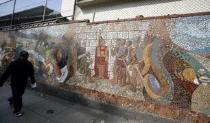 Jesús María: iniciarán restauración de mural del Papa Juan Pablo II