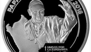 BCR acuña medalla para conmemorar visita del papa Francisco